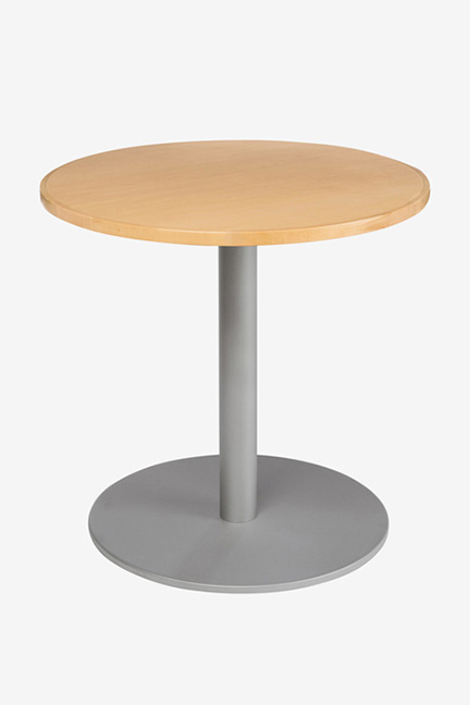 Trumpet and Disc bases offer simple classic looks for round and square top tables.