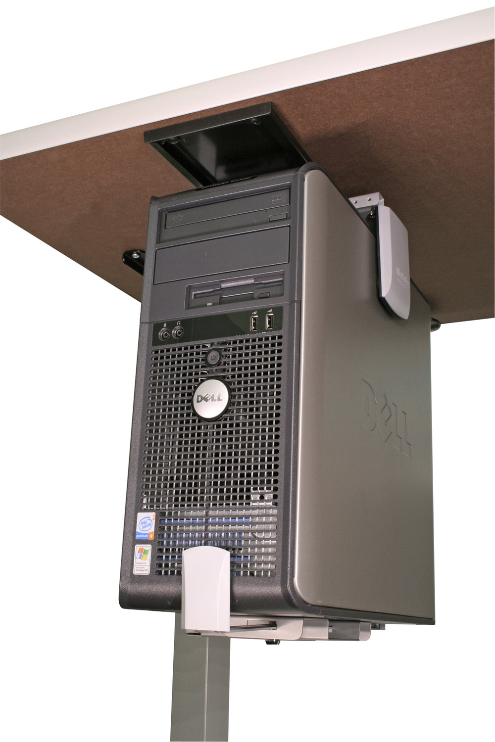 The 920 CPU Holder™ provides a secure mounting solution for today's slim form factor units and mini towers. Workrite CPU holders give you easy access to your computer case, whether located on the floor, or attached to your workcenter.