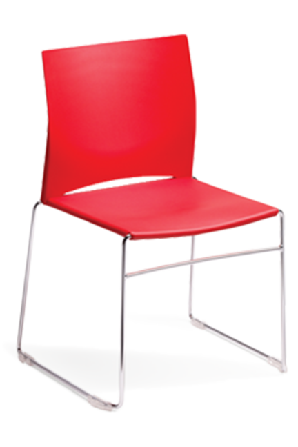With its seat and backrest of high quality polypropylene, the multifunctional Vario chair is simple and stylish.