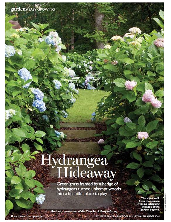 """""""Hydrangea Hideaway"""" Southern Living June 2011"""