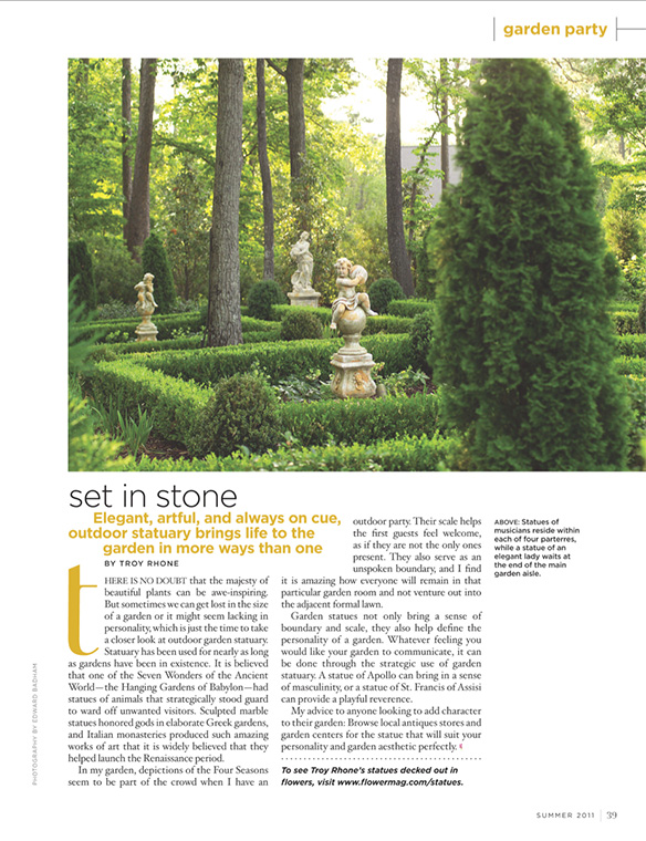 """Set in Stone"" Flower Magazine Summer 2011"