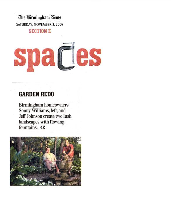 """Garden Redo"" Birmingham News November 2007"