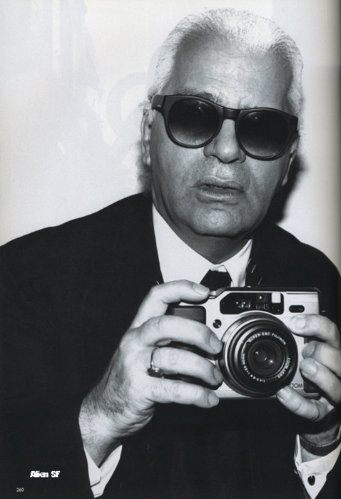 Karl Lagerfeld with Fujifilm GA645Zi