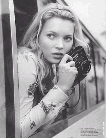 Kate Moss with a Holga