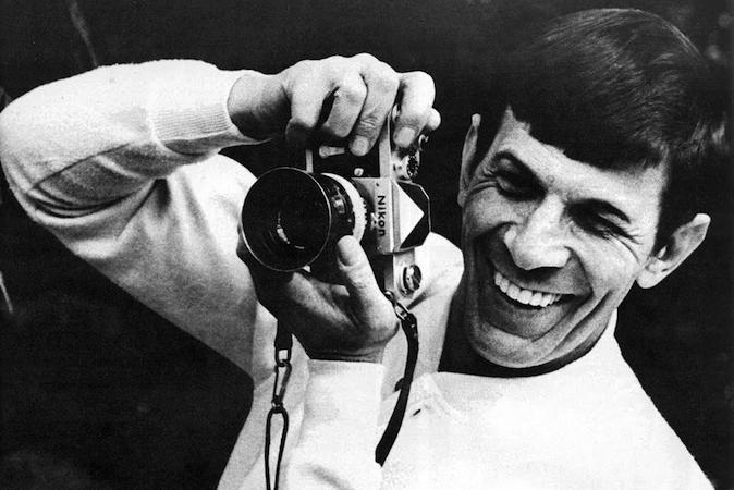 Leonard Nimoy and a Nikon F