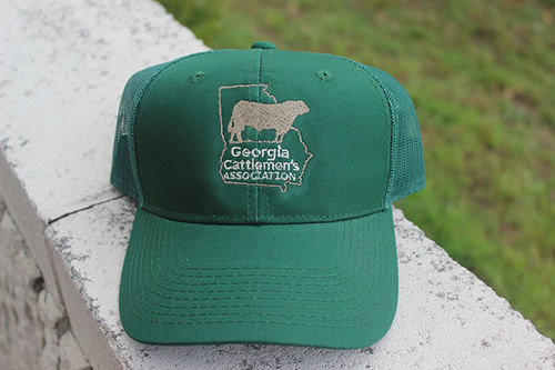 00a8661ed94 Hunter Green Georgia Cattlemen s Hat with Mesh Back