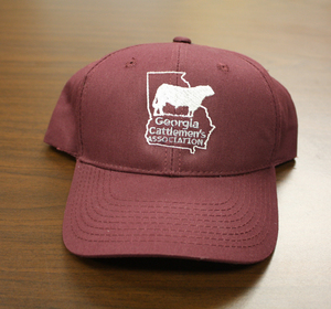 9459fea0d7b Maroon Georgia Cattlemen s Hat With Solid Back