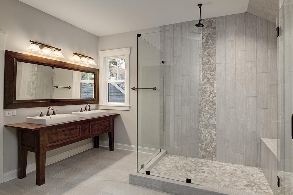 Craftsman Style Bathroom   Carolina Craftsman Builders