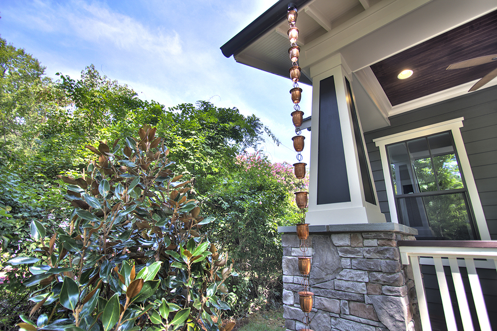 Copper Rain Chains downspout - Carolina Craftsman Builders.jpg