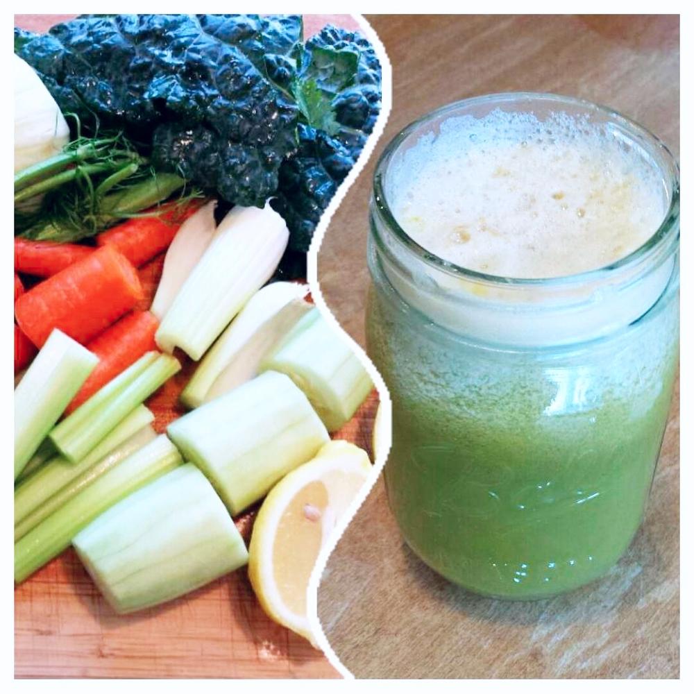 Cuccumber-Kale-Fennel Juice