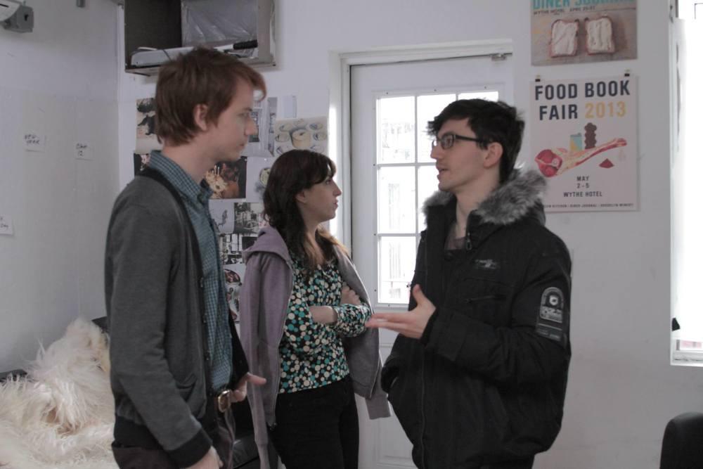 Director Daniel Goldberg directs actor Colin Hinckley