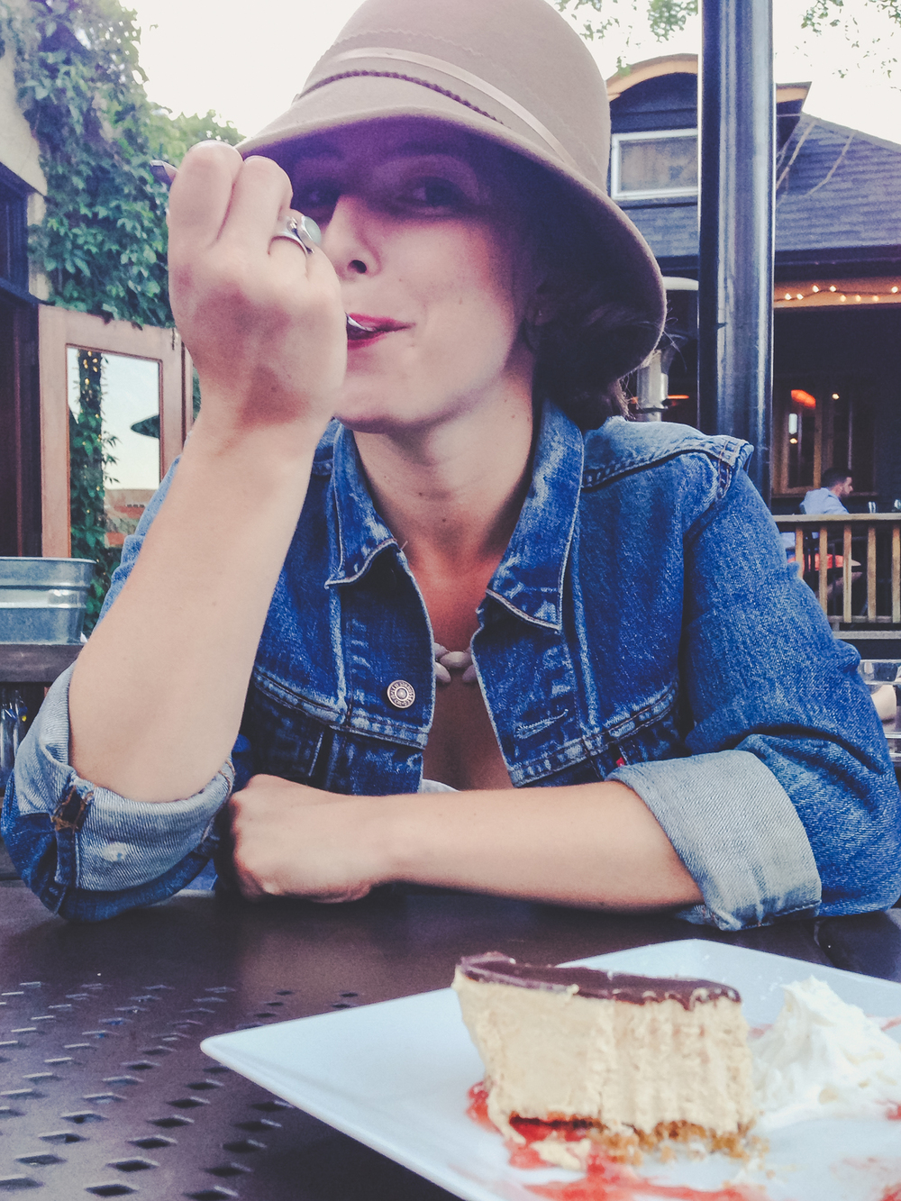 (you might say that at this particular point she's having her cake and eating it too.)