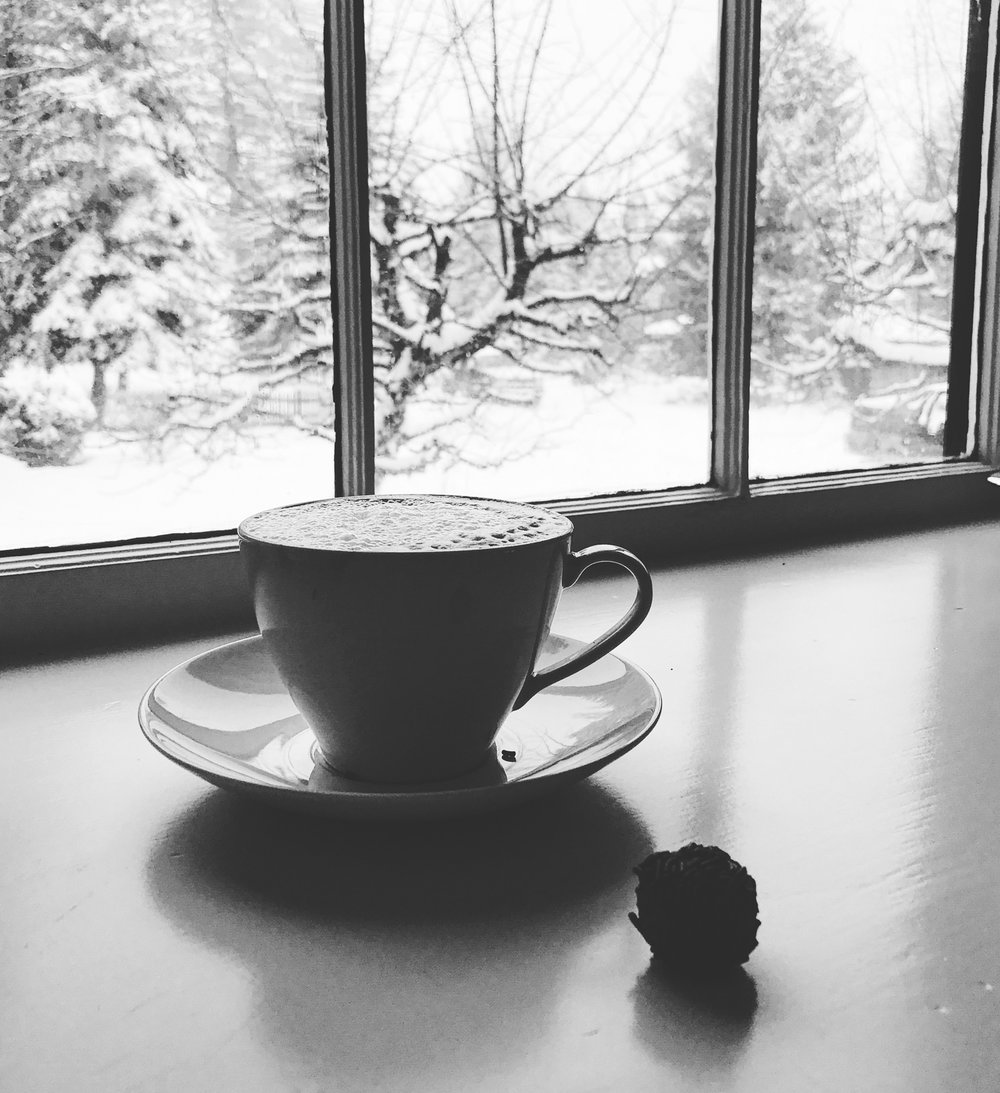 ...because, record-breaking snowy days, eggnog spiked lattes and rum balls...a winter Rx if ever there was one.