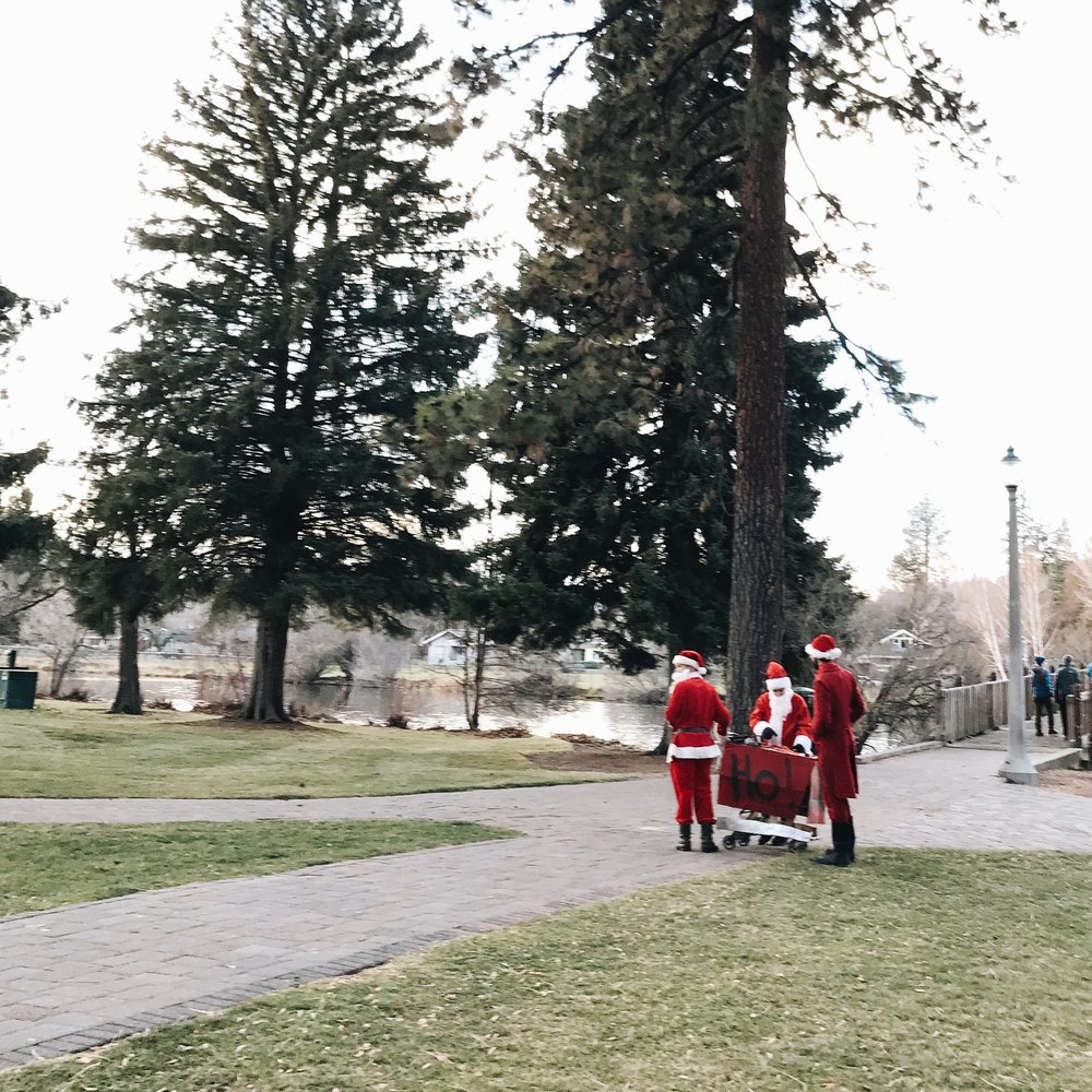 ...there were 3 more walking down the path to join them...chortling, and chuckling, and ho ho ho'ing...and all of a sudden all was quite merry and bright.