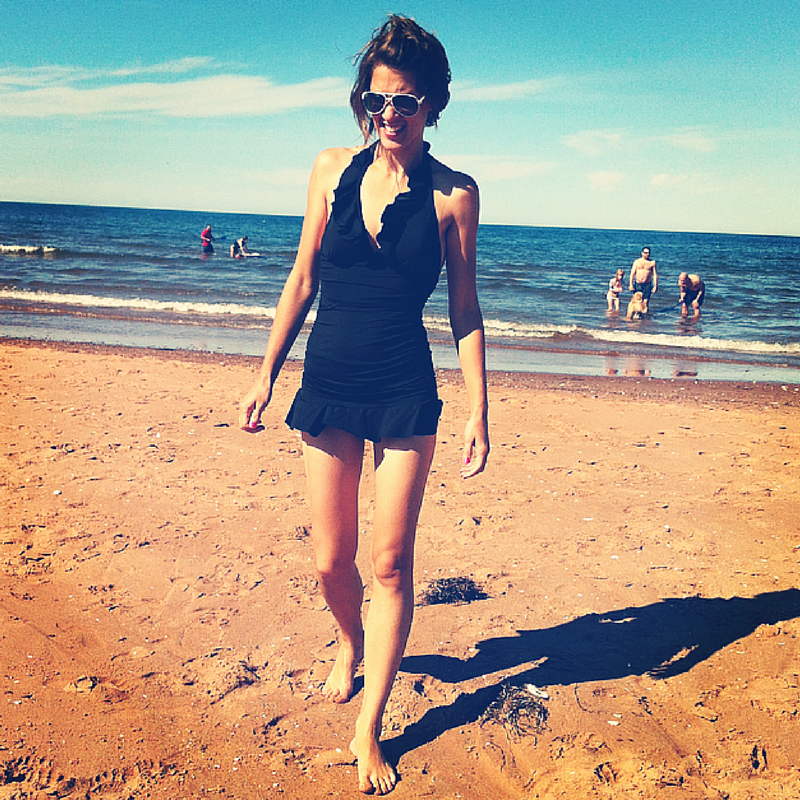 Summer of 2013 at a beach in PEI.