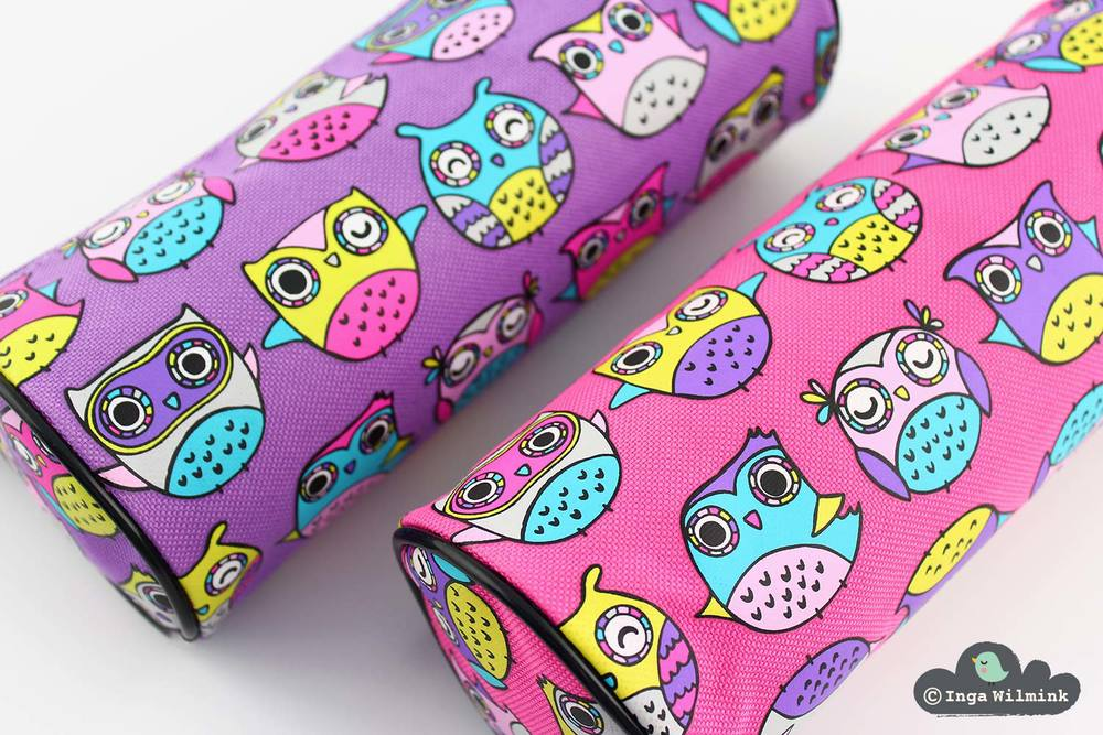 Owls Party Illustration - Surface Pattern Design by Inga Wilmink