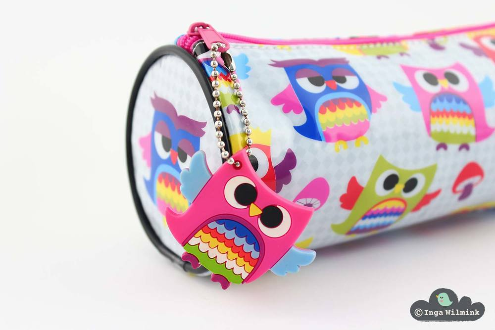 Owls Pencil Case - Surface Pattern Design by Inga Wilmink