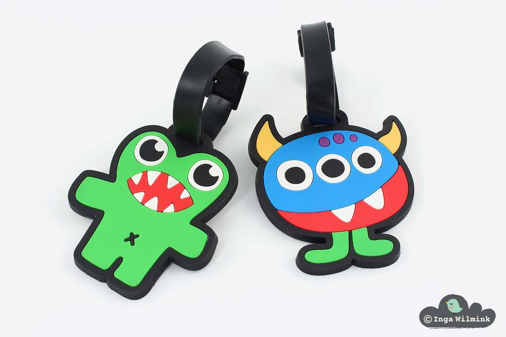 Monster Luggage Tags - Surface Design by Inga Wilmink