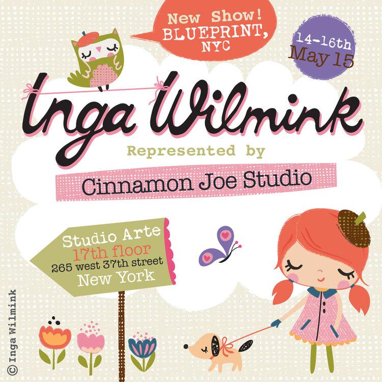 Cinnamon joe studio blueprint nyc inga wilmink illustration cinnamon joe studio blueprint nyc inga wilmink illustration surface design malvernweather Gallery