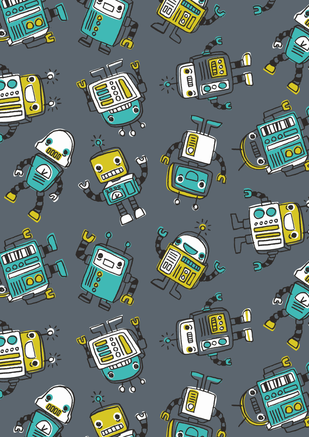 Inga Wilmink for Jo-Ann Stores - Robot fabric