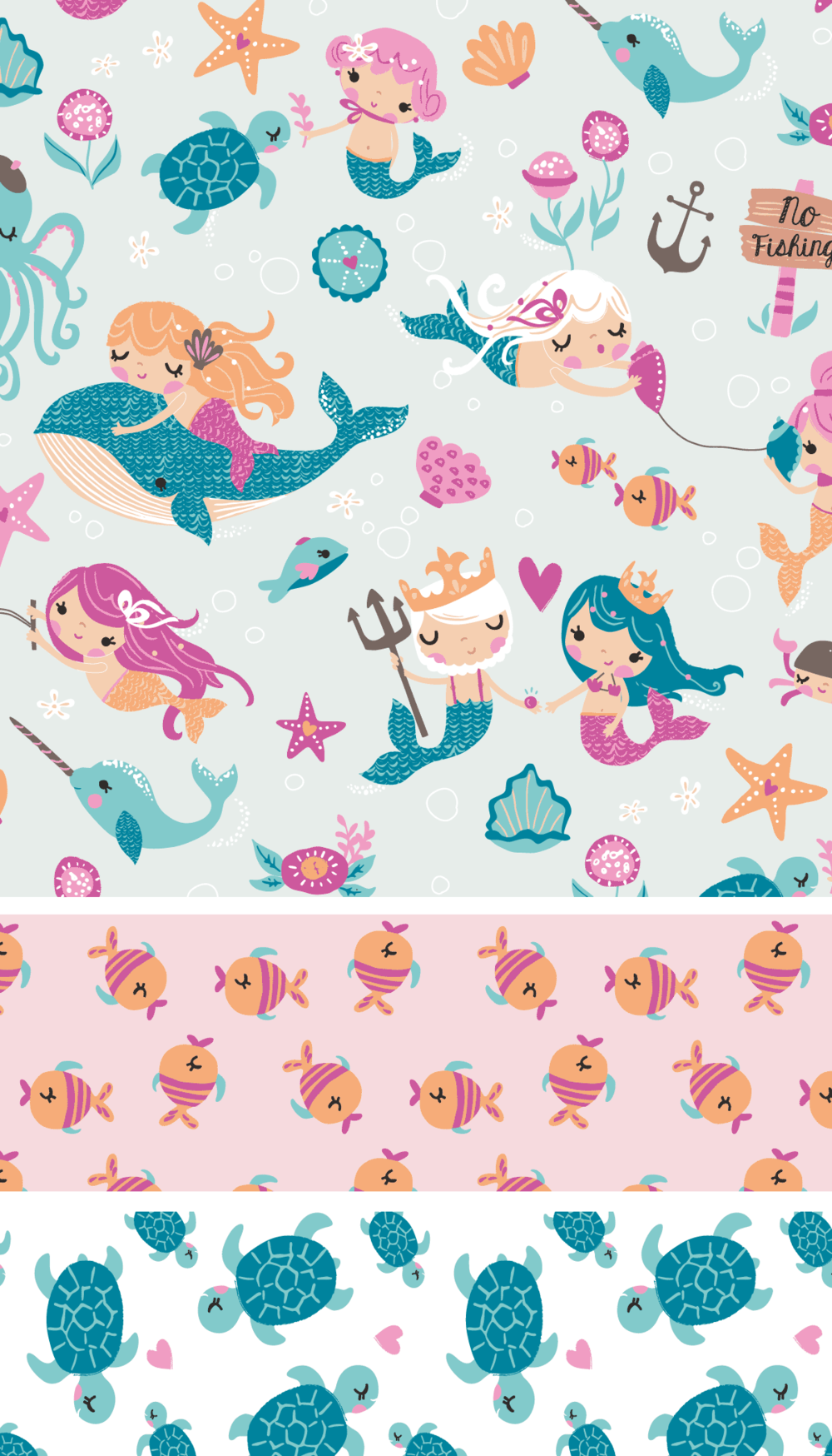Mad about mermaids at jo ann stores inga wilmink for Cute baby fabric prints
