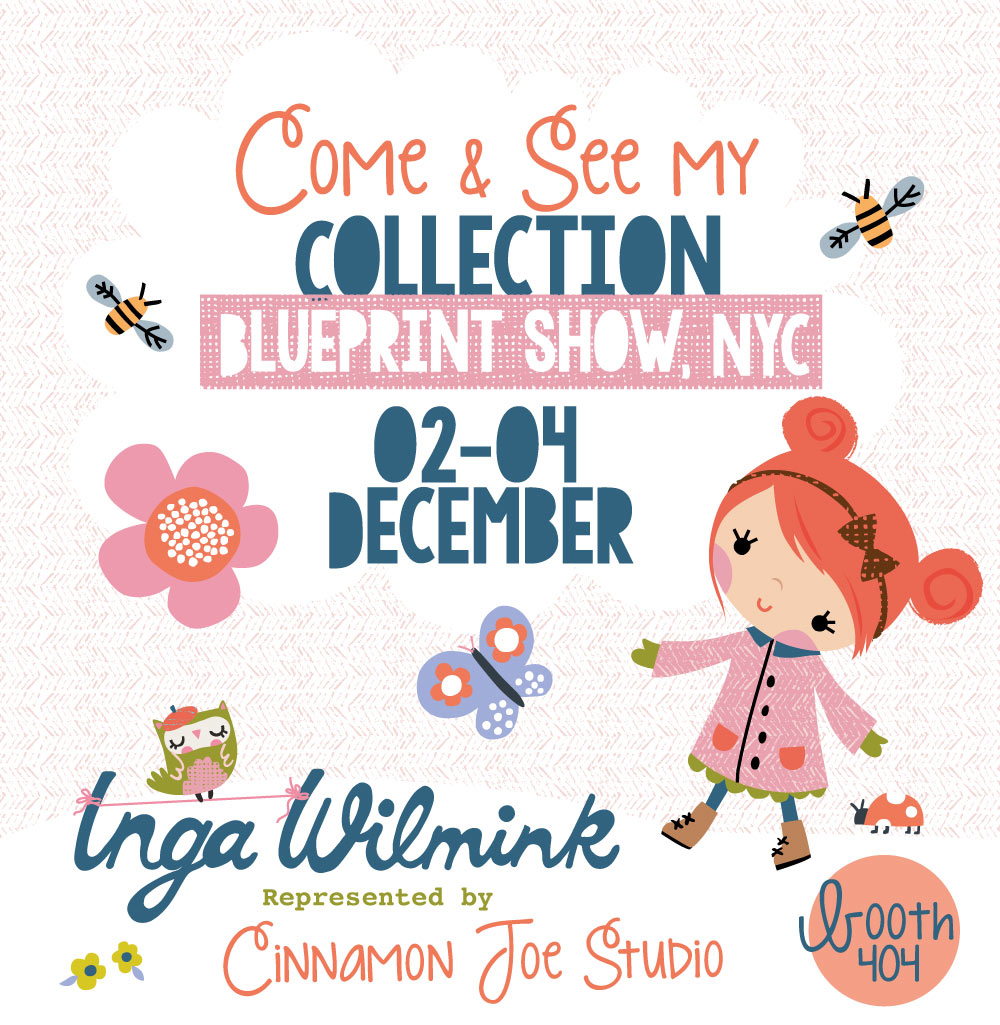 Inga Wilmink Blueprint Show NYC Flyer