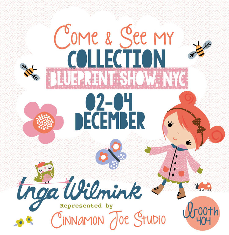Blueprint surface design print show in new york city inga inga wilmink blueprint show nyc flyer malvernweather Images