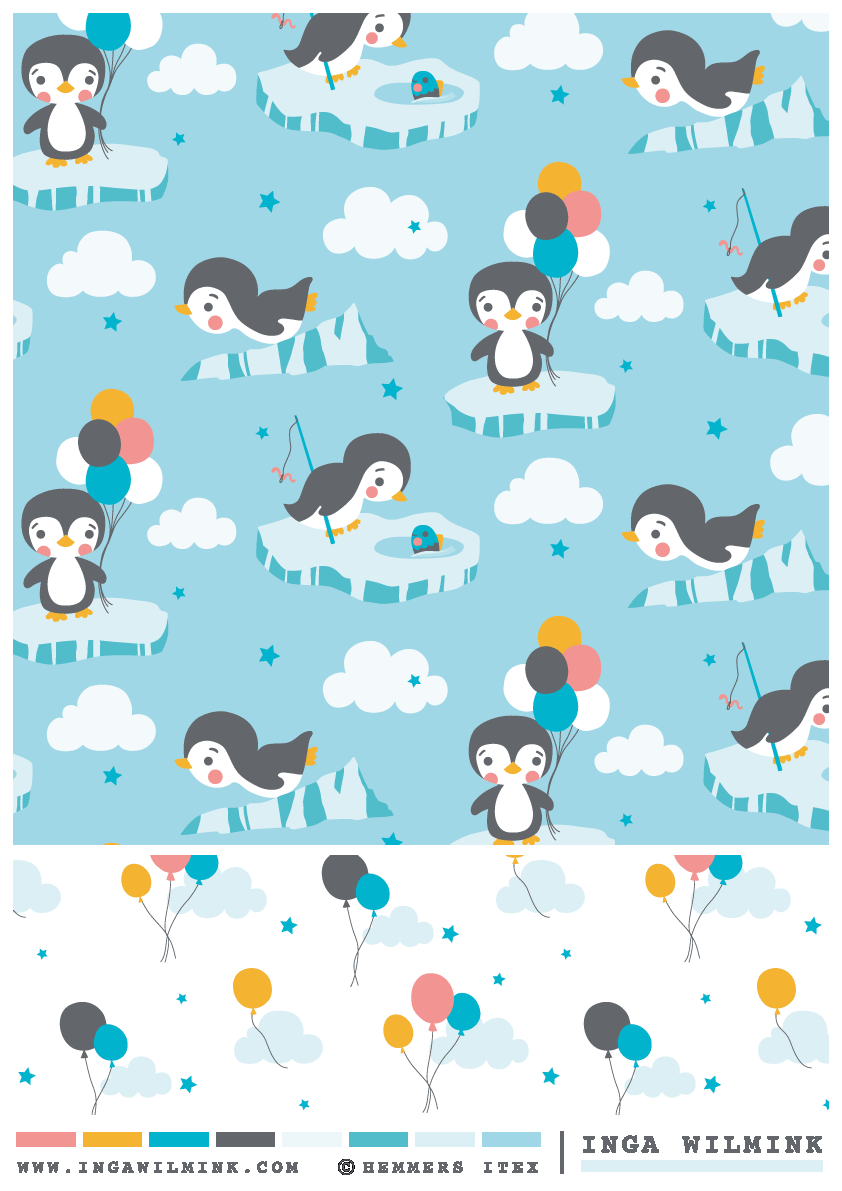 Baby Penguin - Inga Wilmink for Hemmers Itex fabrics