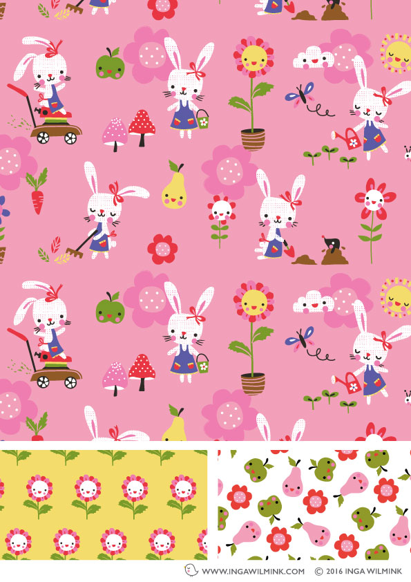 Inga Wilmink - Illustration - Bunny Garden