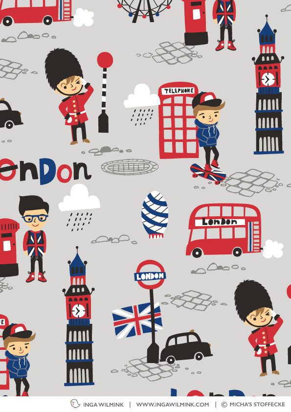 Inga Wilmink for Michas Stoffecke - London Boys fabric