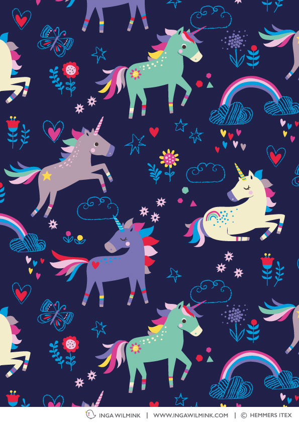 Inga Wilmink for Hemmers Itex - Unicorns