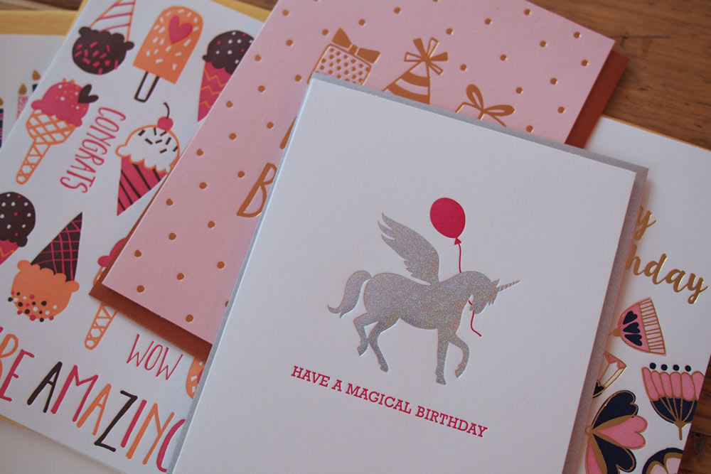 Inga Wilmink for Elum - Unicorn Birthday Card
