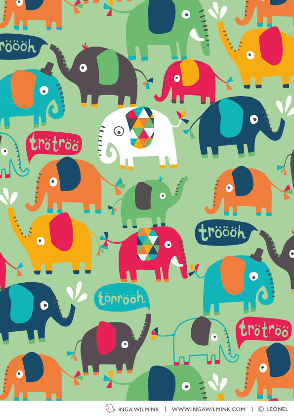 Inga Wilmink - Illustration for LeoNel - Elephants