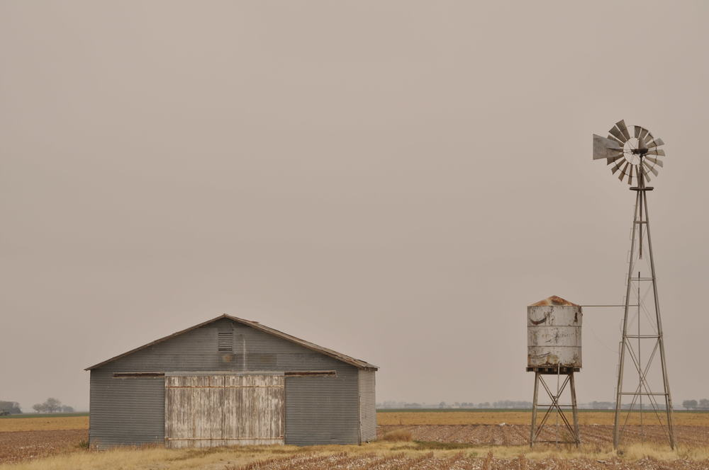A metal Shed in Central Texas