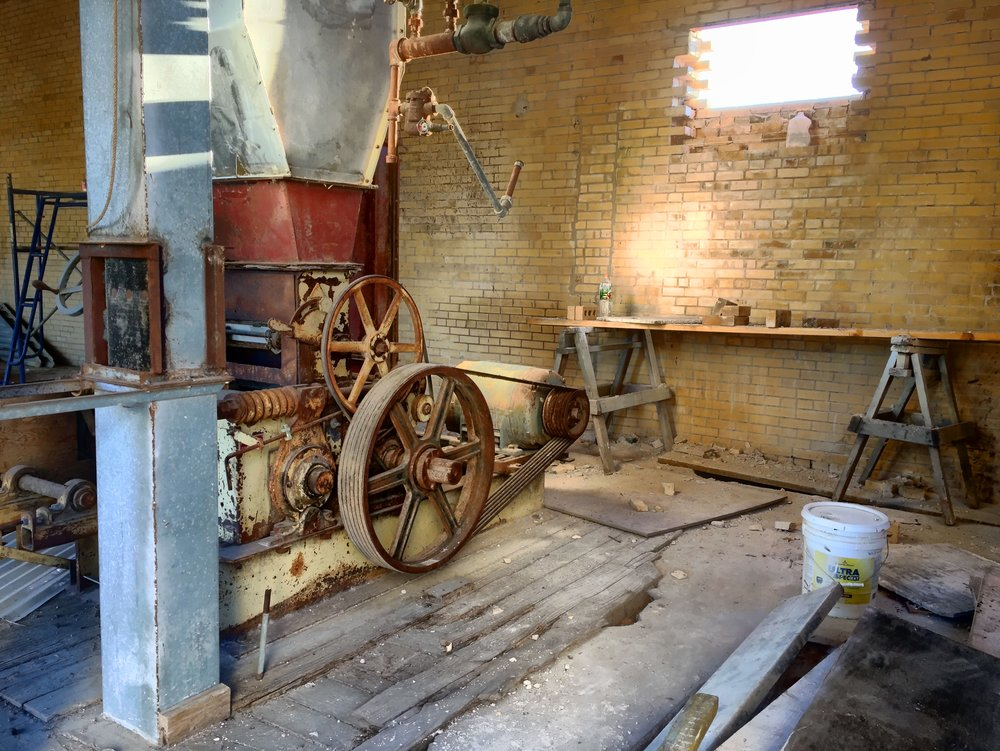 A view of some of the original equipment to the building