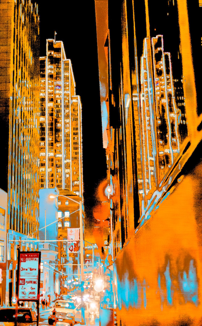 Road Work Ahead Archival Pigment Print. 2016. Edition of three.  Sold
