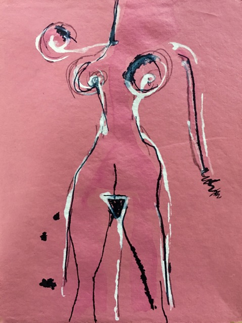 Pink & Black Nude