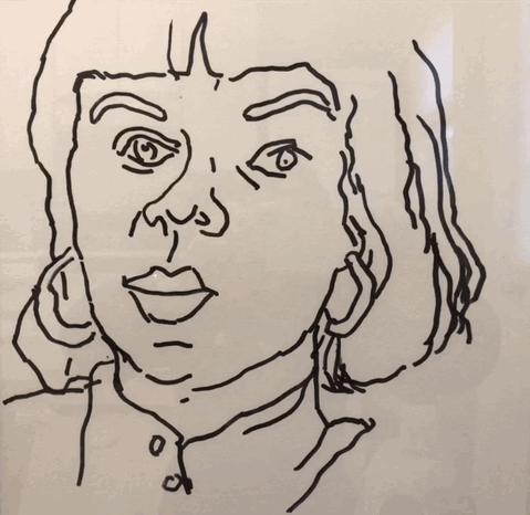 """Felt Tip Pen Drawing #1, 12"""" x 12""""  $120"""
