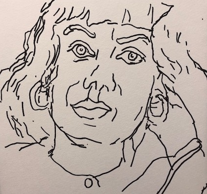 """Felt Tip Pen Drawing #2, 12"""" x 12"""" $120"""