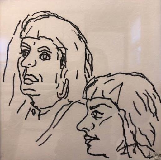 """Felt Tip Pen Drawing #4, 12"""" x 12""""  $120"""