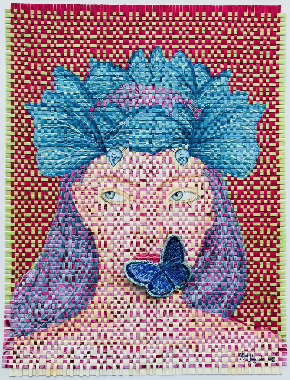 """CRAVE  $750  Watercolor on Arches Paper Handwoven  12"""" x 16"""" (Framed 13 1/4"""" x 17 1/4"""")  © 2018"""