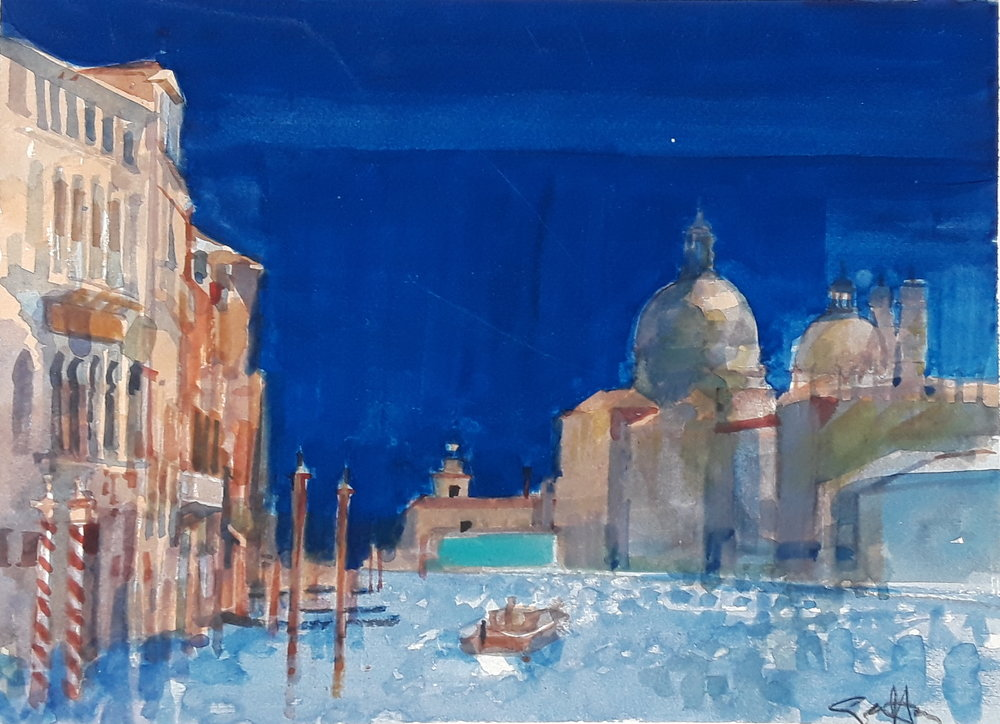 Salute to the Grand Canal Geoffrey Humphries  Sold