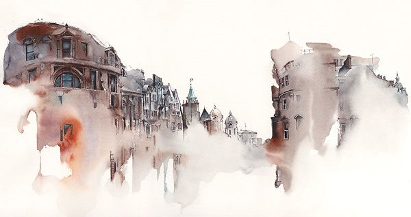 Sunga Park   Famous places in Aquarelle    Source:  http://www.cjwho.com/post/62046042503/architectural-watercolors-by-sunga-park-famous