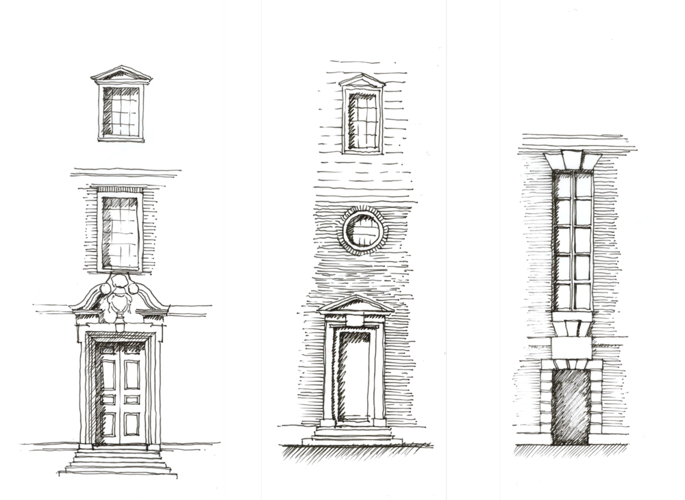E. Lutyens entrance studies
