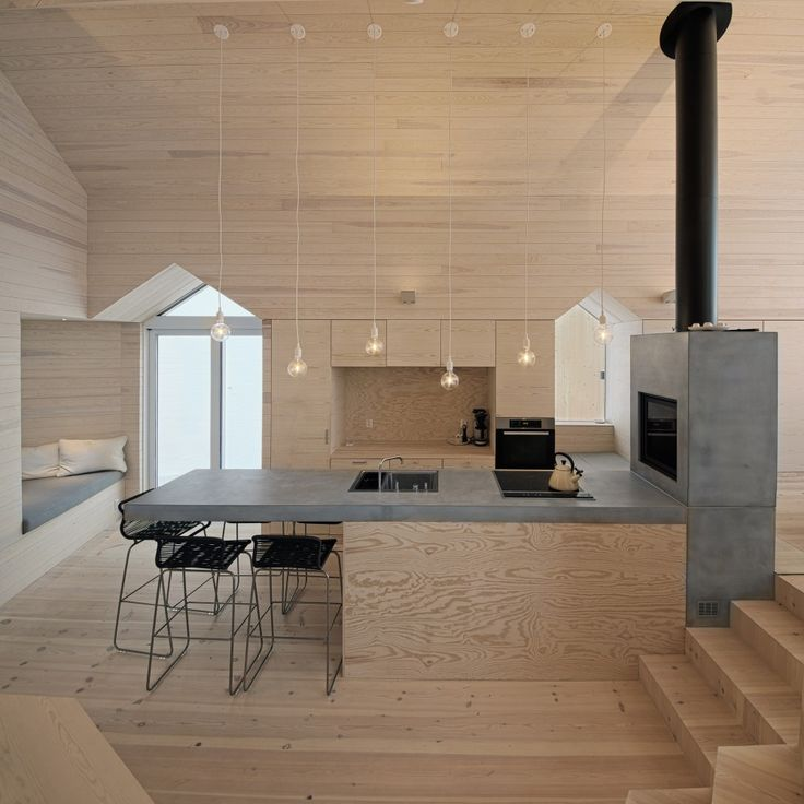 Timber, timber and more timber! And some concrete. Split View Mountain Lodge, Buskerud, Norway by Reiulf Ramstad Architects Click on image to see more!