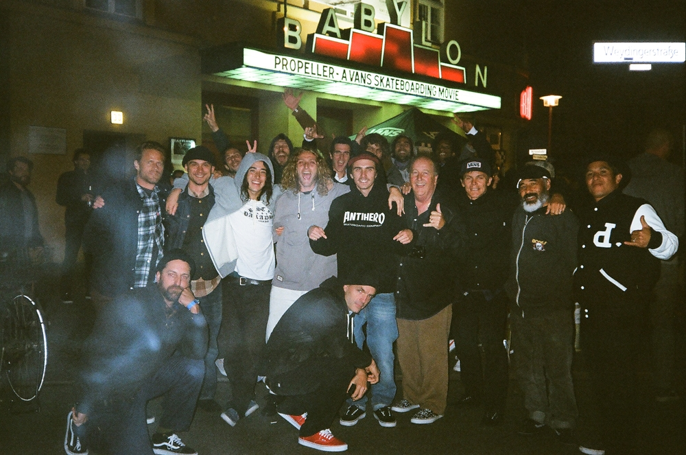 """""""Berlin, Babylon baby. This theater was so essential, like the inglorious bastards one. Group shot, amazing memories. Look at the crew!"""""""