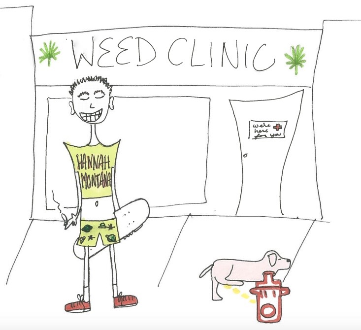 Pookie at the Weed Clinic by Liv