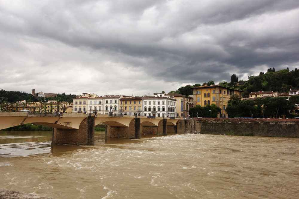 Arno River. It was rainy when I was there, and the water seemed very yellow.