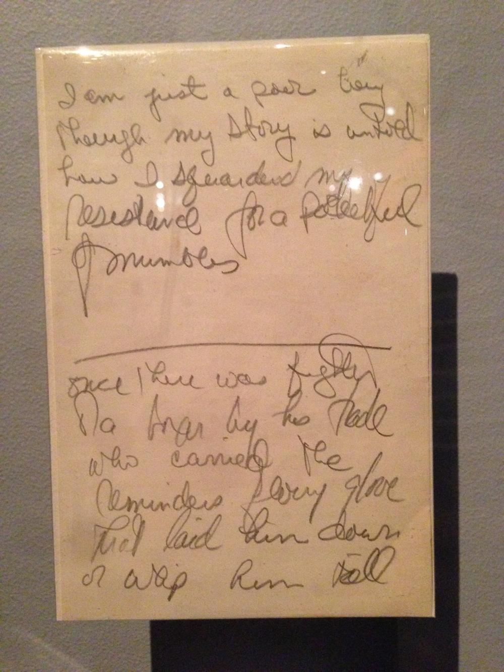 """Paul Simon's Lyrics to """"The Boxer"""""""