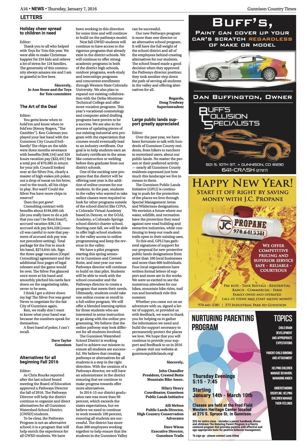 Gunnison Times